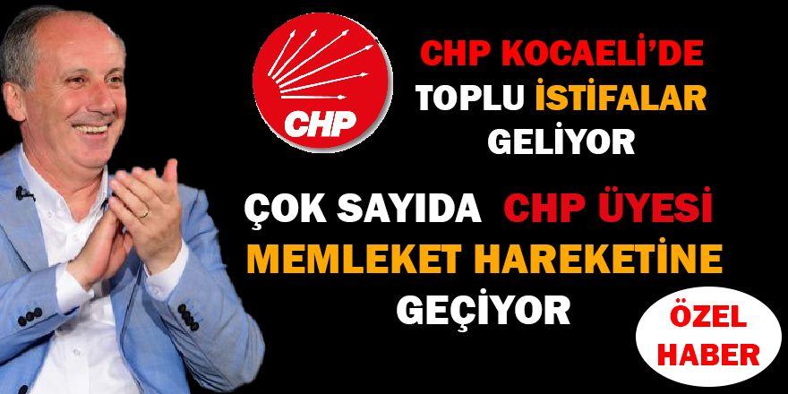 CHP Kocaeli'de toplu istifa geliyor
